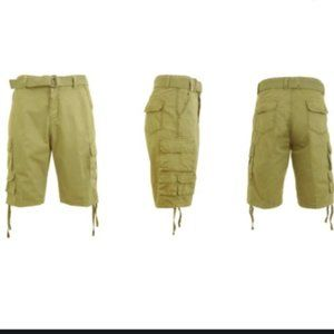 Galaxy By Harvic Belted Utility Cargo Shorts 30